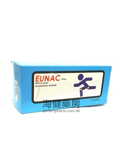Eunac (Diclofenac) 100mg 100Sustained-Release Tablets