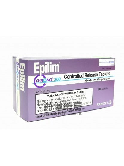 穩得寧 Epilim Chrono 300mg (Valproate) 100Controlled Release Tablets (丙戊酸)