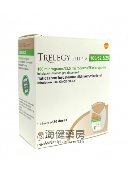 Trelegy Ellipta Inhalation Powder 30Doses