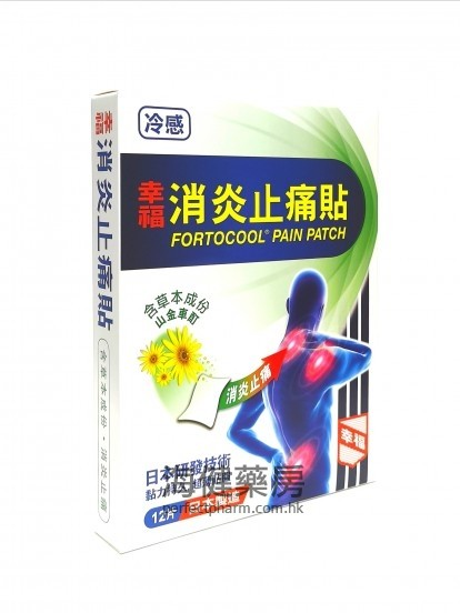 幸福消炎止痛贴 Fortcool Pain Patch 12片