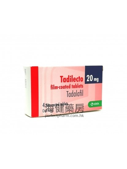 Tadilecto 20mg 4Film-Coated Tablets