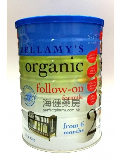 貝拉美有機奶粉 2 號 Bellamy's Organic Follow-On Formula 900g