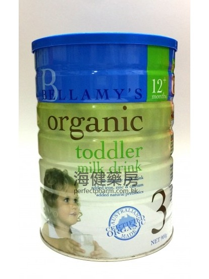 貝拉美有機奶粉 3 號 Bellamy's Organic Toddler Milk Drink 900g