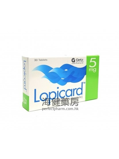 Lopicard 5mg (Amlodipine) 30Tablets Getz