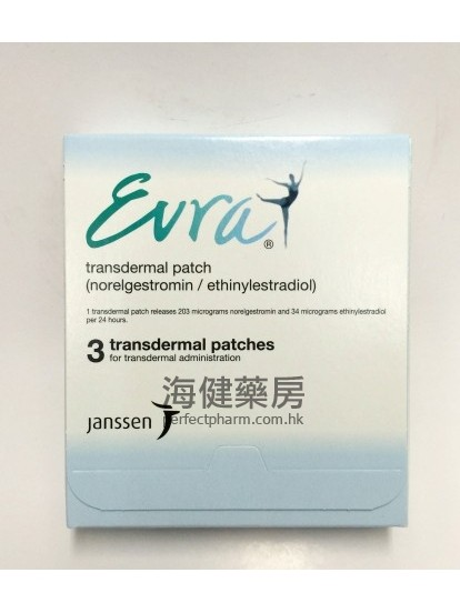 避孕貼 3 片 Evra Transdermal Patches