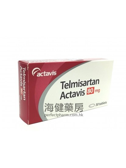 替米沙坦 Telmisartan Actavis 80mg 30Tablets