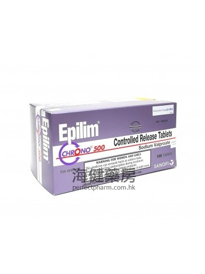 穩得寧 Epilim Chrono 500mg 100Tablets